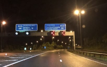 M25 traffic today – sinkholes have caused closures amid heavy rain – here are the latest updates