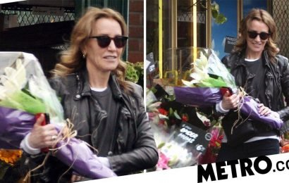 Felicity Huffman buys flowers for graduating daughter amidst bribery scandal