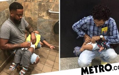 Pampers supports dads who campaigned for baby changing tables in men's loos