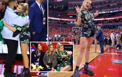 Eugenie Bouchard risks Wimbledon Curse of Drake as tennis ace joins rapper at courtside to see his beloved Raptors lose NBA finals