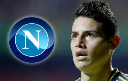 James Rodriguez to join Napoli on loan from Real Madrid in transfer worth nearly £90m