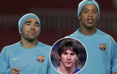 Barcelona sold 'drunk' Ronaldinho and Deco to protect Lionel Messi, claims former Arsenal star Alex Hleb