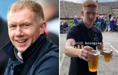 Man Utd great Scholes brands his own son a 'b****' in hilarious online row over getting the beers in