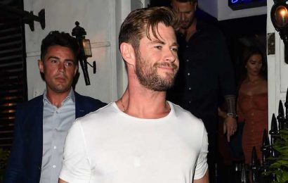 Chris Hemsworth's Tight Sleeves Showcase His Chiseled Arms