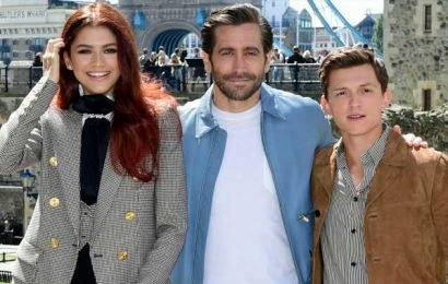 Tom Holland, Jake Gyllenhaal & Zendaya Reunite at 'Spider-Man: Far From Home' London Photo Call!