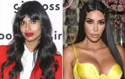 Jameela Jamil Knocks Kim Kardashian's Body Makeup: 'I'd Rather Just Make Peace with My Million Stretch Marks'