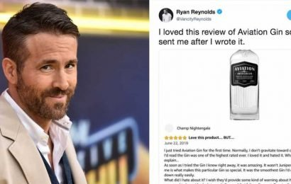 Ryan Reynolds Wrote An Elaborate Fake Amazon Review For His Own Gin Brand