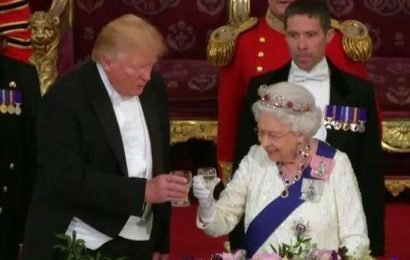 Prince Harry keeps distance from Trump at Buckingham Palace after 'nasty' comment