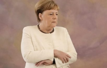 Angela Merkel seen shaking at event in Berlin, second time in just over a week