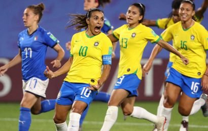 Marta passes Germany's Miroslav Klose for all-time World Cup scoring record