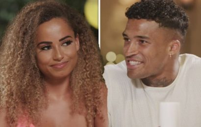 Love Island first look: Amber Gill drops bombshell on date with Michael Griffiths