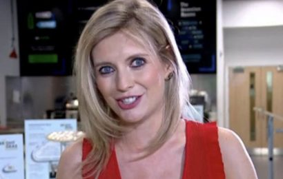 Countdown's Rachel Riley flashes eye-popping cleavage in plunging dress