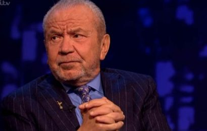 Alan Sugar admits to receiving death threats on Piers Morgan's Life Stories