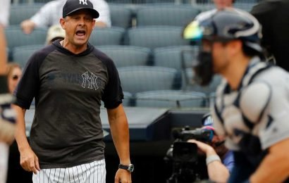 Yankees' Aaron Boone spent his MLB punishment in fine style
