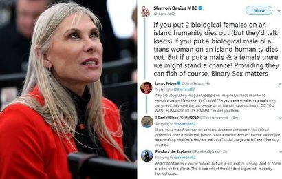 Former Olympic swimmer Sharron Davies sparks another transgender row