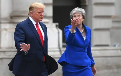 Theresa May joins backlash against Donald Trump over 'racist' tweets