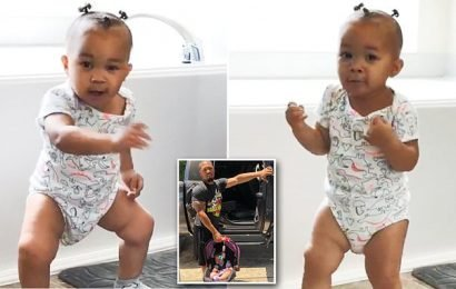 This baby showed her dad who was boss