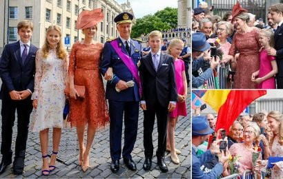 Belgium's royal family celebrates Belgian National Day in Brussels
