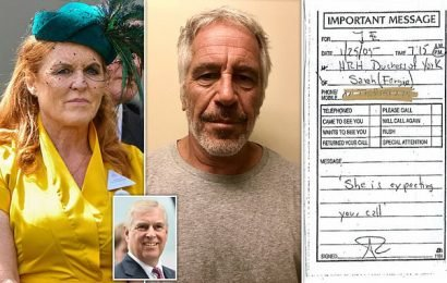 'She is expecting your call': Note from Sarah Ferguson to Epstein