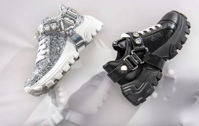 Your Childhood Light Up Sneakers Have Nothing on This Shimmering Miu Miu Pair