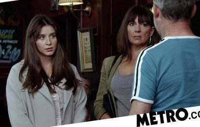 What is Paula Martin up to on Coronation Street, and does Sophie Webster know?
