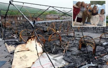 Girl, 11, dead and three kids fighting for lives after fire rips through children's holiday camp