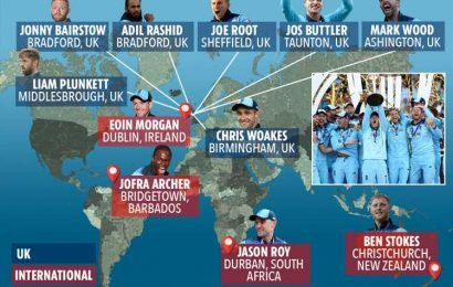 From NZ to Barbados via Ireland – England's incredibly diverse World Cup winning team – The Sun