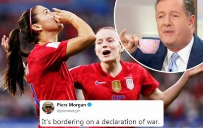 Piers Morgan blasts 'cocky' USA tea-sipping celebrations as a 'declaration of war' after England World Cup defeat