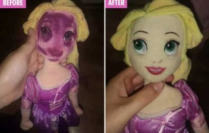 Mum gets daughter's stained Disney princess doll looking brand new using £2 B&M spray – The Sun