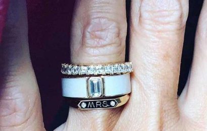 Bride flaunts her new diamond-encrusted 'Mrs' ring but it's blasted 'hideous' by wedding guests – The Sun