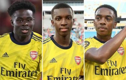 Five Arsenal youngsters who could save Emery from spending in transfer market including hotshot Nketiah and sublime Saka – The Sun