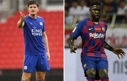 Man Utd 'hold £46m transfer talks over Samuel Umtiti' as Eric Bailly's injury woes continue and Harry Maguire deal draws out – The Sun