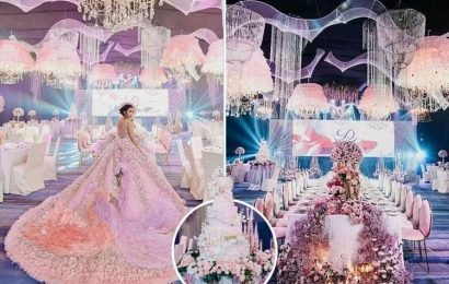 Pampered teen, 18, throws staggering £23,000 birthday party with two huge gowns, a five-tier cake and an orchestra – The Sun