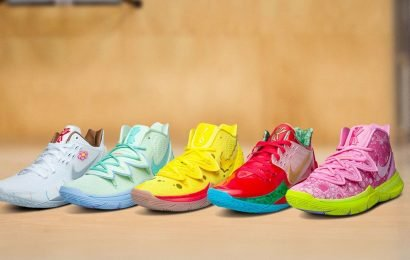 Where To Get These Nike x SpongeBob SquarePants Sneakers, Because Kyrie Irving's Designs Are So Coral