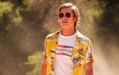 Here's How to Get Brad Pitt's 'Once Upon a Time…In Hollywood' Champion Logo Tee