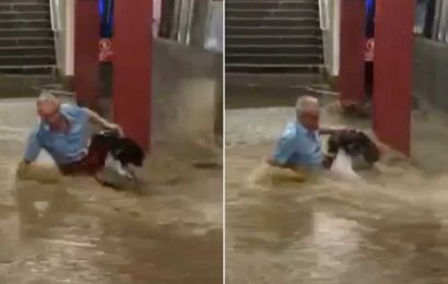 Subway stop floods after downpour knocks out wall in Queens