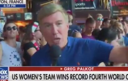 Soccer fans chant 'F— Trump!' during live Fox News segment at a bar in France after the Women's World Cup final