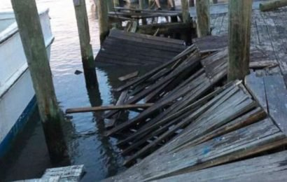 3 injured after dock collapses during birthday party