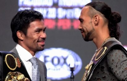 Boxing: Manny Pacquiao battling age, hungry Keith Thurman in welterweight title showdown