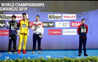 Swimming: Sun Yang wins 200 freestyle but snubbed by Duncan Scott in another podium protest