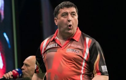 Mensur Suljovic is bidding to retain his German Darts Masters title in Cologne this weekend