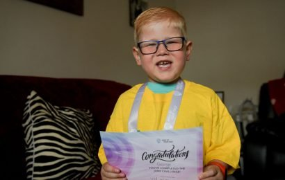 Four-year-old boy determined to 'kick cancer's ass' is now in remission