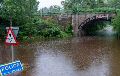 Mass flooding across Scotland brings travel chaos after torrential rain hits
