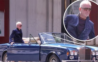 Chris Evans spruces up Rolls Royce as he turns chauffeur for wedding