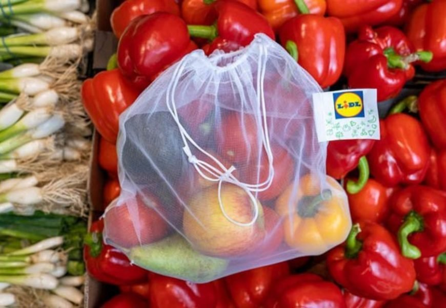 Lidl becomes first UK supermarket to introduce reusable fruit and veg bags nationwide