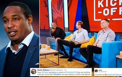 Ince makes rude gesture at fellow pundit Chris Sutton on morning show