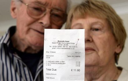 Elderly couple 'disgusted' after bill describes them as 'old people'