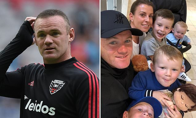 Rooney gets into hotel lift with mystery woman after hours of partying