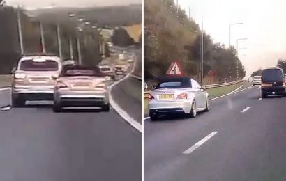 Video shows terrifying high speed road rage  on A1 near Doncaster