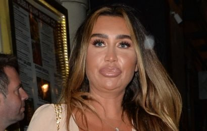 Lauren Goodger wows in eye-popping nude top at Celebs Go Dating wrap party